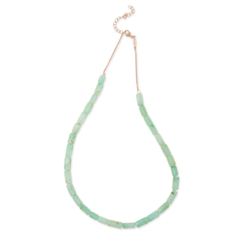 SMOOTH CHRYSOPRASE BEADED NECKLACE