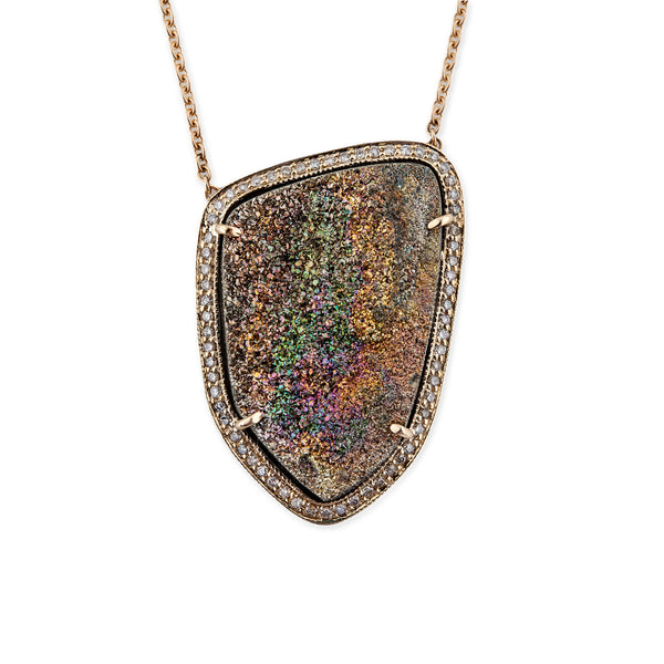 FREEFORM RAINBOW DRUZY NECKLACE