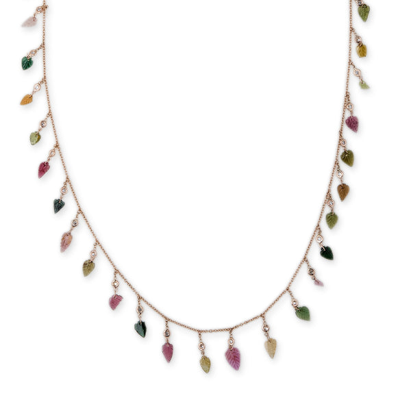 TOURMALINE LEAF SHAKER BELLY CHAIN