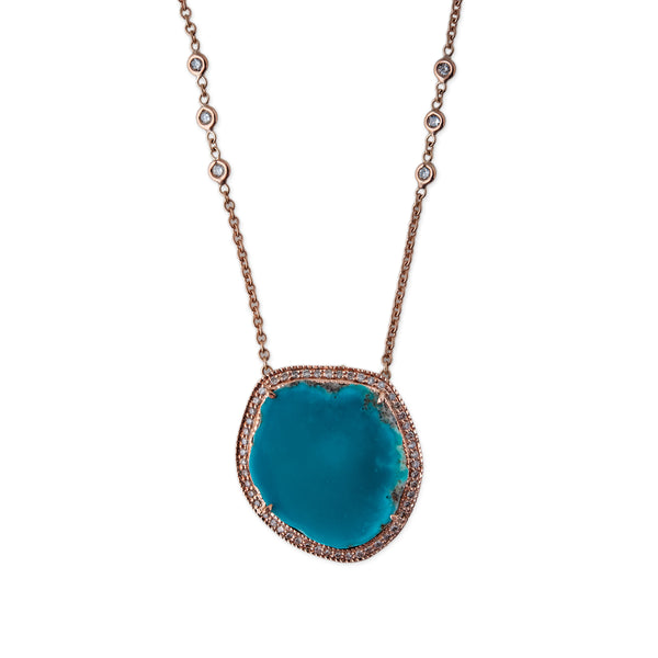 ROUND FREEFORM TURQUOISE NECKLACE