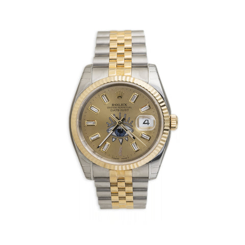 GOLD TWO TONE TRIBE EYE VINTAGE ROLEX