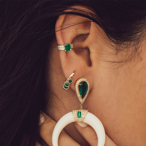 MALACHITE SHAKER MINI HOOP