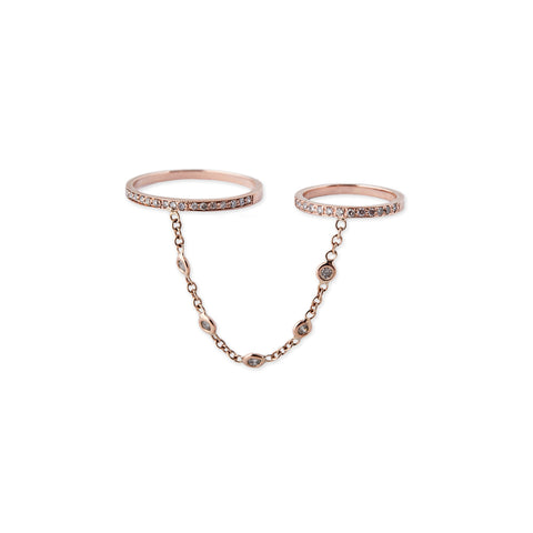 5 DIAMOND CHAIN DOUBLE RING