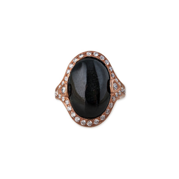VINTAGE STYLE ONYX COCKTAIL RING