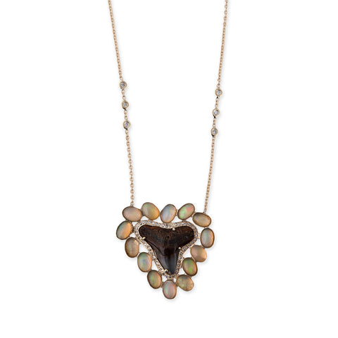 OPAL SHARK TOOTH MUFASA NECKLACE