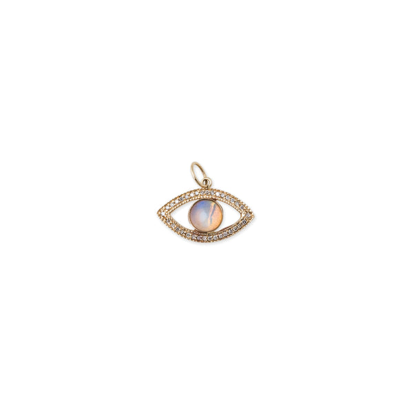 MEDIUM PAVE OPAL EYE CHARM