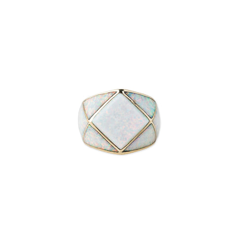 WHITE OPAL INLAY XX RING