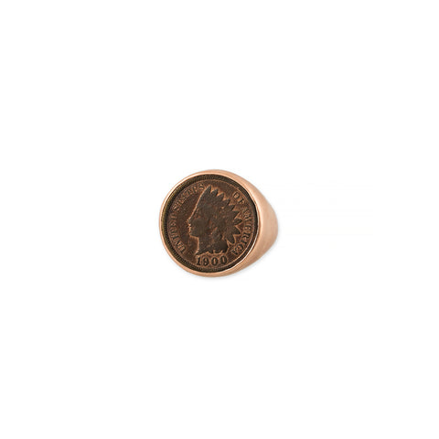 MEN'S ANTIQUE COIN SIGNET RING