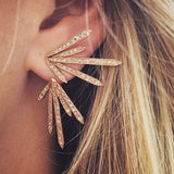 CLUSTER ICE PICK STUD EARRING