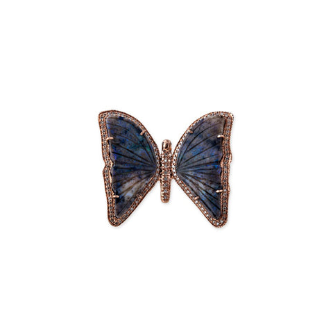 DARK OPAL BUTTERFLY COCKTAIL RING