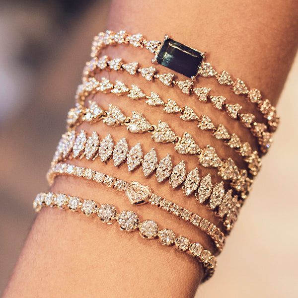 LARGE DIAMOND LIZ BRACELET