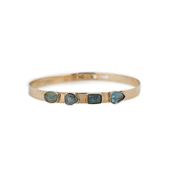 4 AQUAMARINE BANGLE
