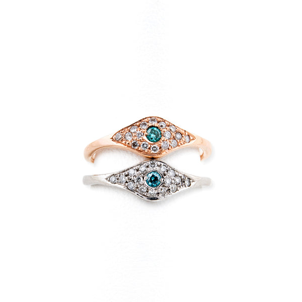 BLUE DIAMOND EYE RING