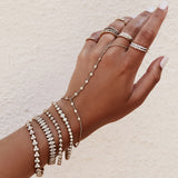13 DIAMOND FINGER BRACELET