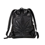 SWEET LEAF SNAKE SKIN BACKPACK