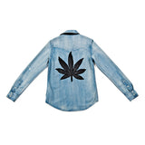 SWEET LEAF DENIM SHIRT