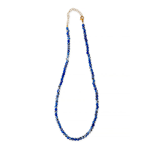 ZOE AICHE EVIL EYE BEADED NECKLACE