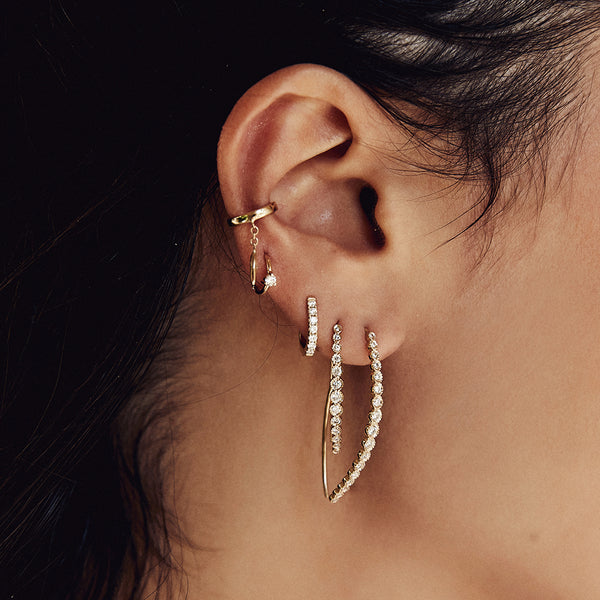 MARQUISE DIAMOND DROP EAR CUFF