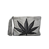 SWEET LEAF CLUTCH - BLACK + GREY