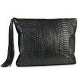TASSLE CLUTCH - BLACK