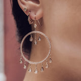 DIAMOND DREAM CATCHER EARRINGS
