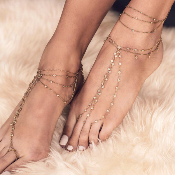 TRILLION SHAKER 7 DIAMOND TOE ANKLET