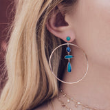 OPAL SLICE DROP HOOPS