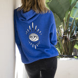 EYE BURST + SWEET LEAF BLUE HOODIE