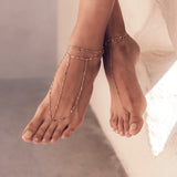 SMOOTH BAR DIAMOND SHAKER ANKLET