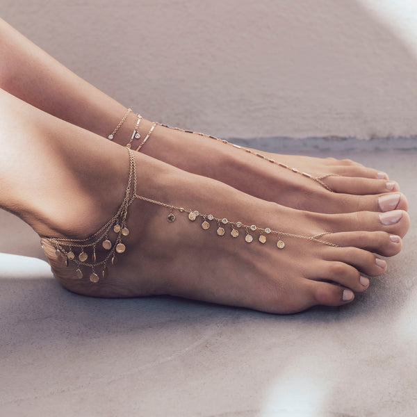7 Diamond Disc Shaker Toe Anklet