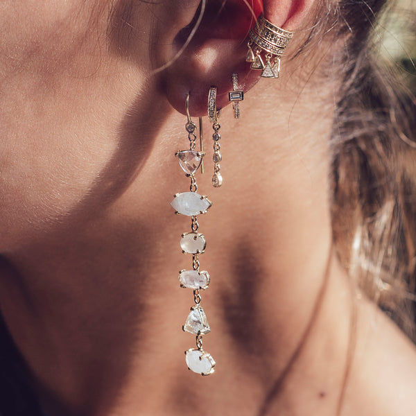 PAVE TRILLION SHAKER EAR CUFF