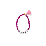 ZOE AICHE TASSEL BEADED WORD BRACELET