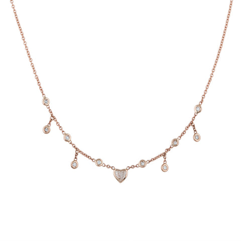 HEART CENTER HALF SHAKER NECKLACE