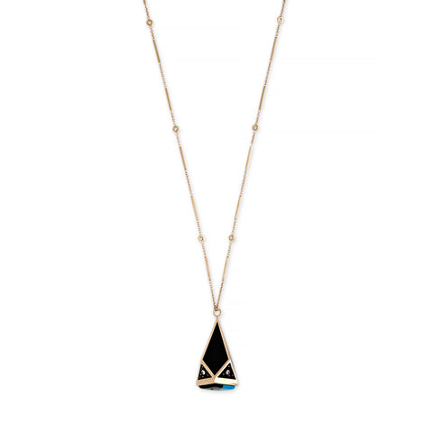 GEOMETRIC DOME GALAXY INLAY NECKLACE
