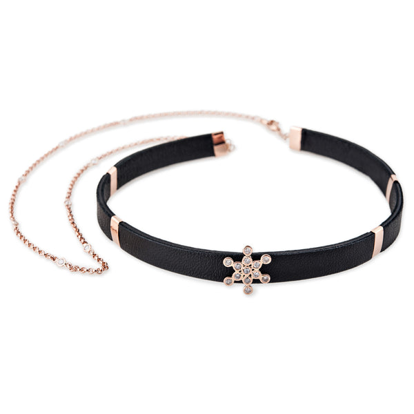 S&H FRUIT OF LIFE CHOKER WITH CHAIN