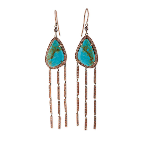 TURQUOISE WATERFALL EARRINGS