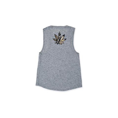 MARBLE SWEET LEAF GREY MUSCLE TANK