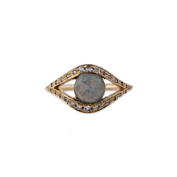 LABRADORITE EYE RING