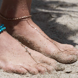 7 Diamond Toe Anklet