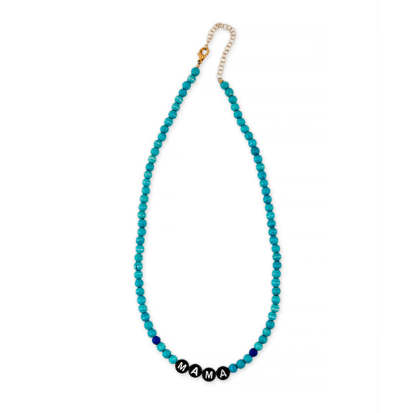 ZOE AICHE BEADED MAMA NECKLACE