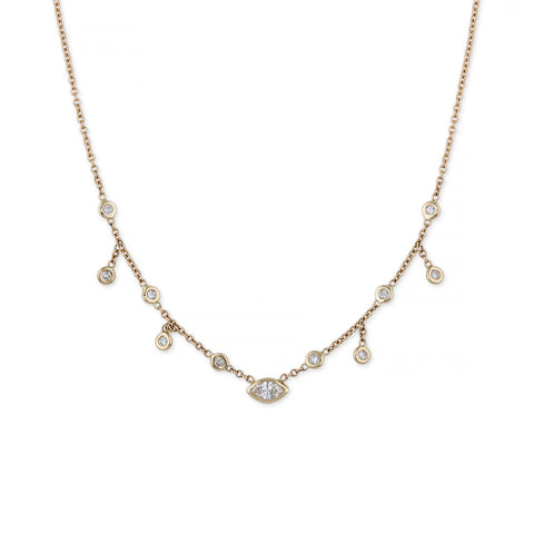 MARQUISE CENTER HALF SHAKER NECKLACE