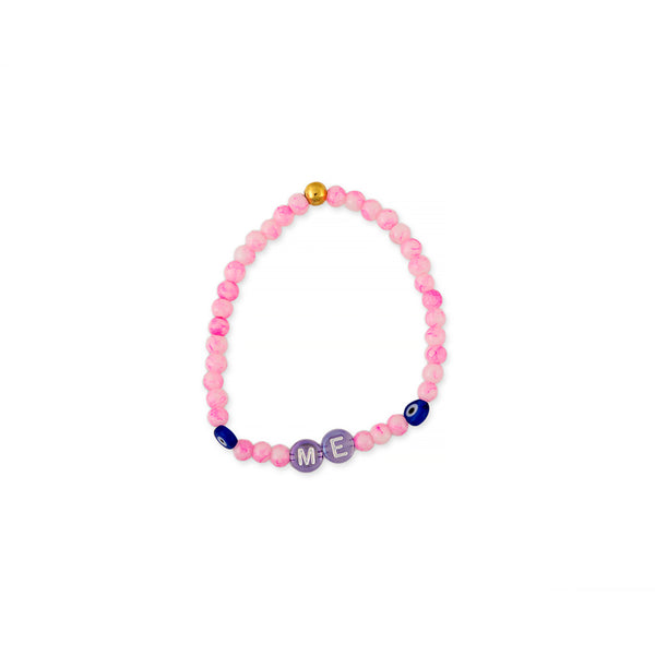 ZOE AICHE BEADED EVIL EYE + WORD BRACELET