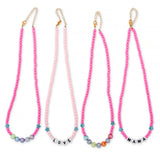 ZOE AICHE STAR PINK BEADED SISTERS NECKLACE