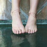 DIAMOND 3 CHAIN ANKLET