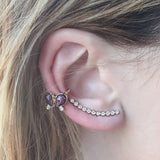 11 DIAMOND EAR CUFF