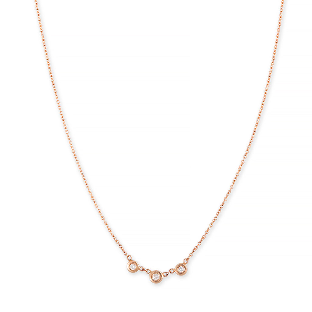 3 DIAMOND EMILY NECKLACE