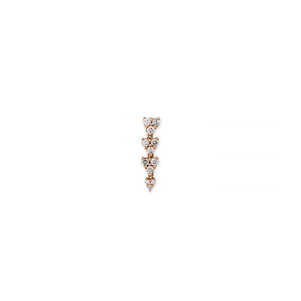 4 GRADUATED LIZ DROP STUD EARRING