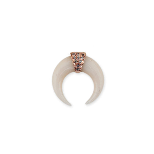 MINI DOUBLE BONE HORN STUD