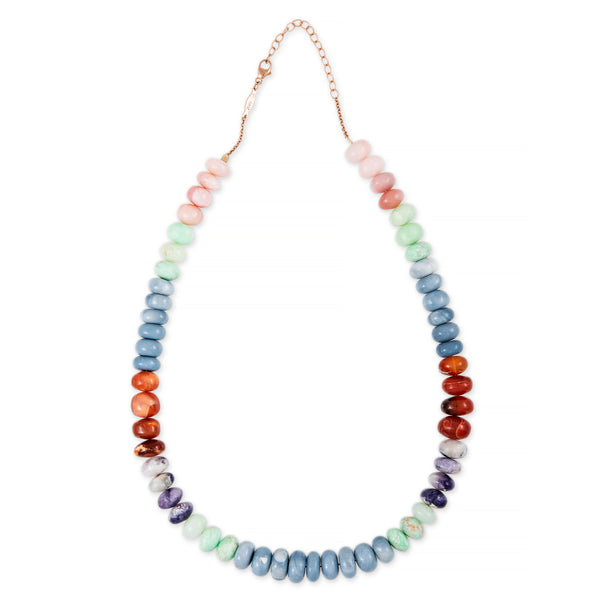 MULTI OPAL BEADED NECKLACE