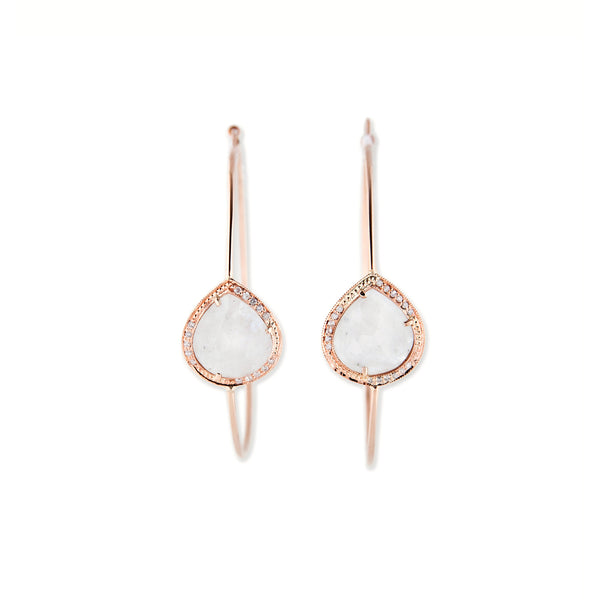 TEARDROP BEZEL HOOPS
